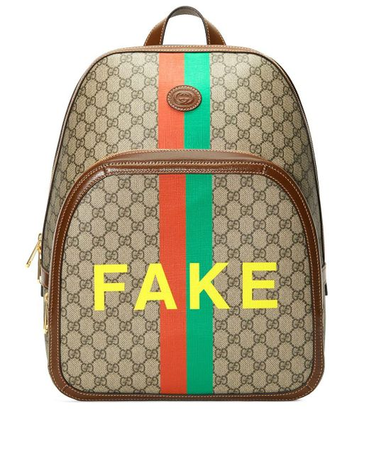 Рюкзак Gg Supreme Fake Gucci для него, цвет: Multicolor