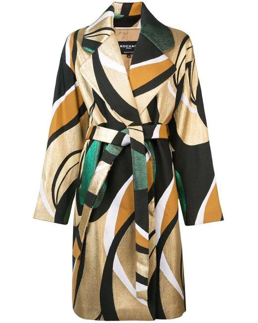 Rochas ベルテッド コート Multicolor