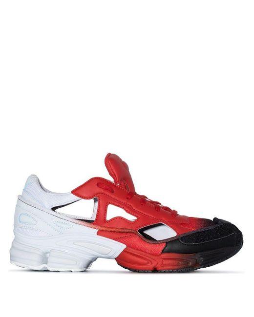 メンズ Adidas X Raf Simons カットアウト スニーカー Red