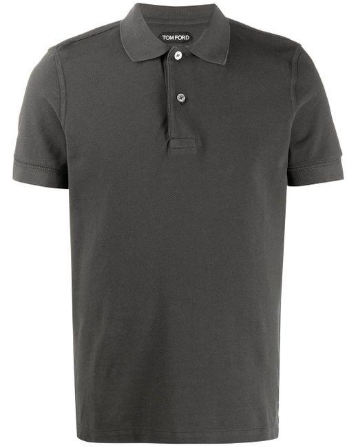 メンズ Tom Ford ショートスリーブ ポロシャツ Black