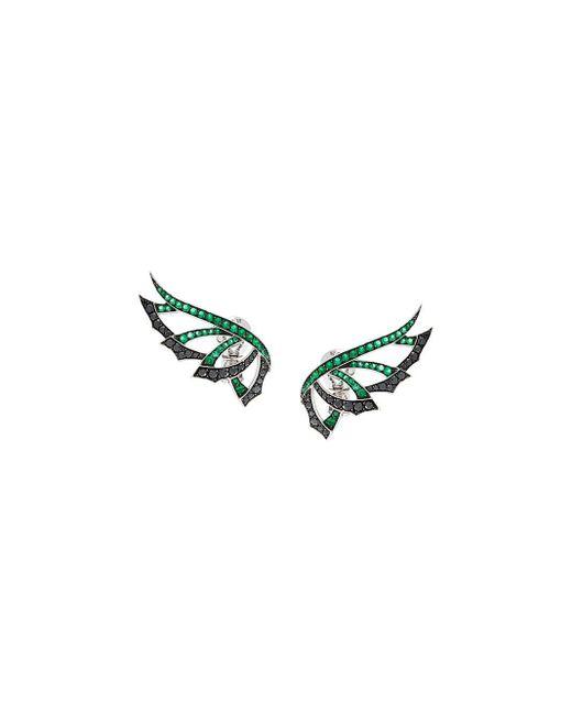 Stephen Webster Magnipheasand ダイヤモンド&エメラルドピアス Multicolor