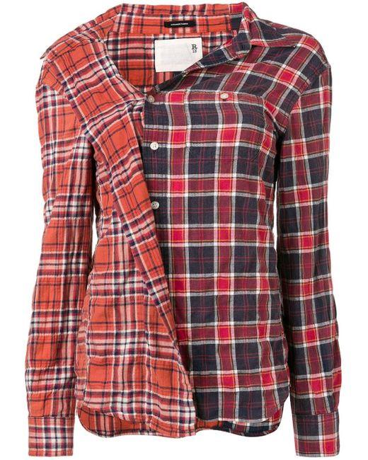 R13 ボタンダウンシャツ Red
