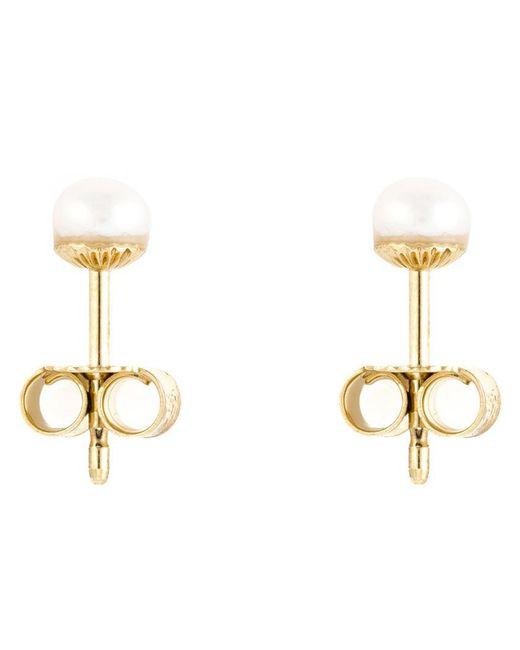 Wouters & Hendrix - White Pearl Stud Earrings - Lyst