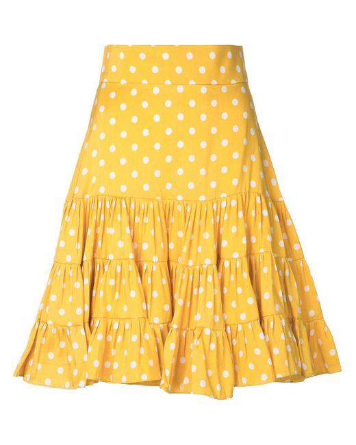 Bambah ポルカドット柄 スカート Yellow