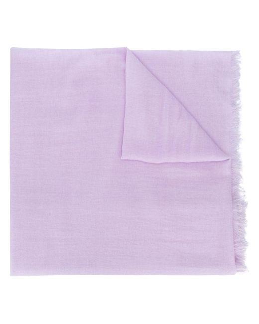Ann Demeulemeester カットオフエッジ スカーフ Purple