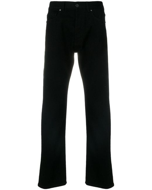 Versace - Black Slim Fit Jeans for Men - Lyst