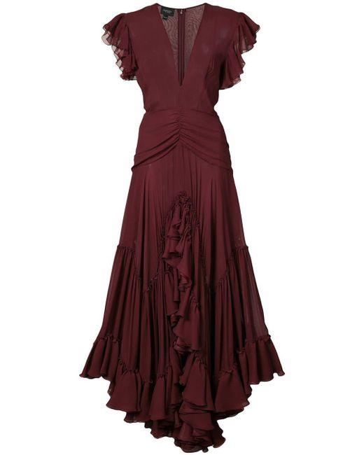 Giambattista Valli ラッフル イブニングドレス Red