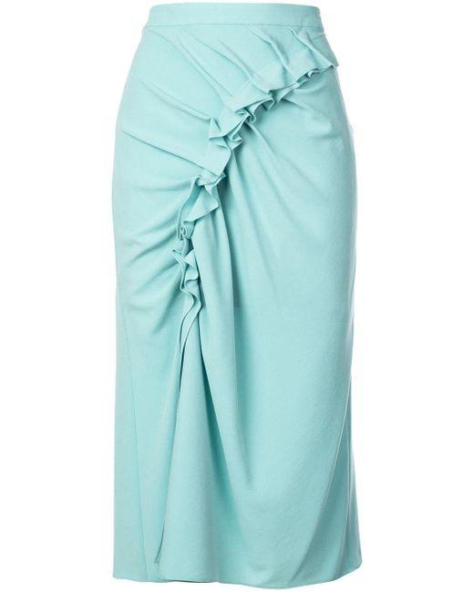 Sies Marjan シャーリング スカート Blue
