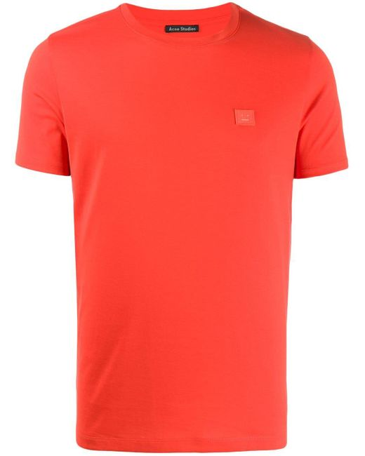 Acne クルーネック Tシャツ Red