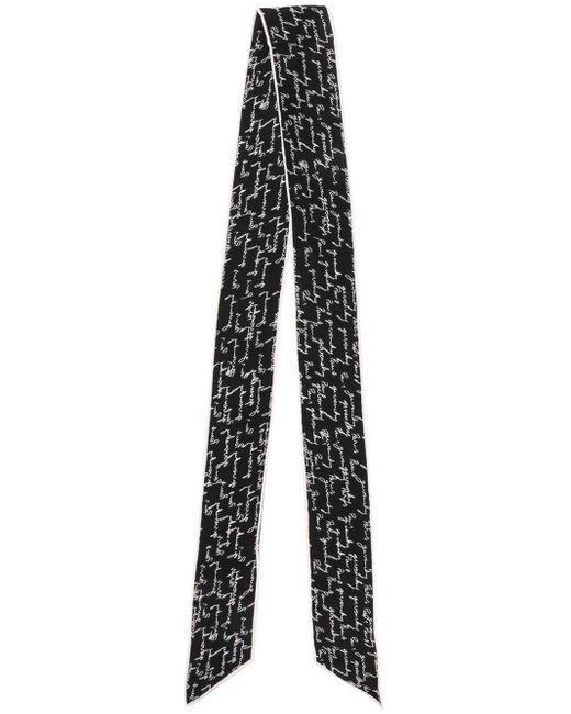 Givenchy プリント スカーフ Black