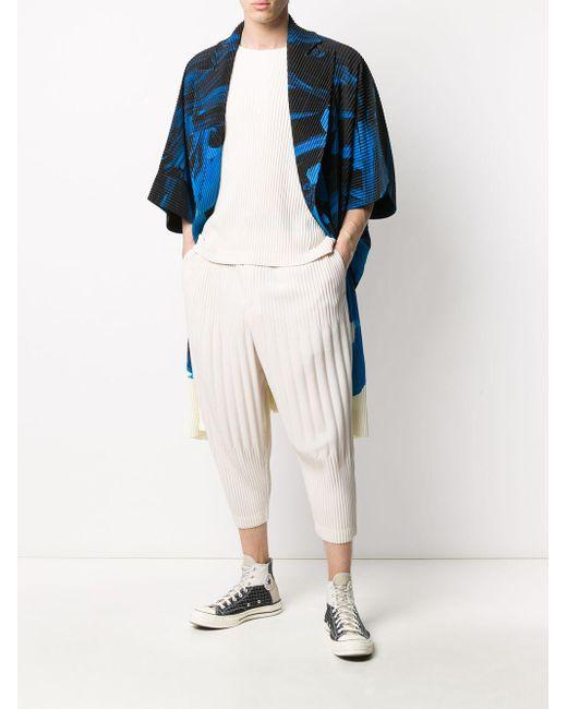 メンズ Homme Plissé Issey Miyake プリーツ Tシャツ Multicolor