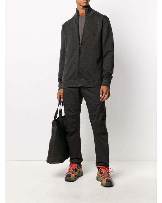 メンズ Calvin Klein ジップ プルオーバー Black