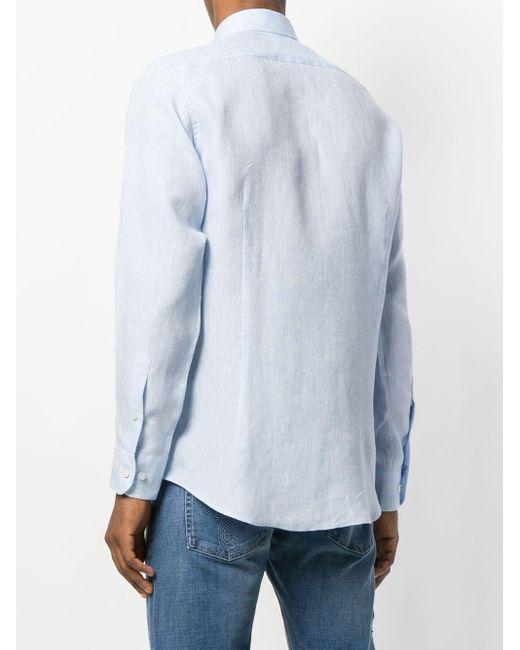 Рубашка С Логотипом Etro для него, цвет: Blue