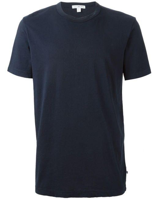 メンズ James Perse ラウンドネック Tシャツ Blue
