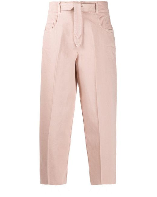 Зауженные Брюки С Поясом Pinko, цвет: Pink