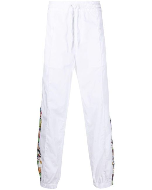 Спортивные Брюки С Графичным Принтом Versace для него, цвет: White