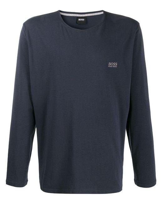メンズ BOSS ロゴ Tシャツ Blue