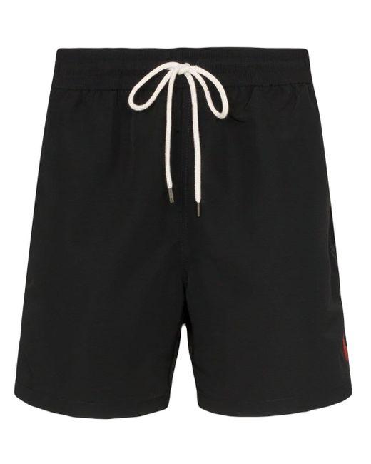 メンズ Polo Ralph Lauren ロゴ トランクス水着 Black