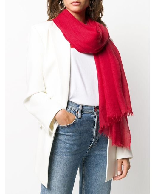 Faliero Sarti カシミア スカーフ Red