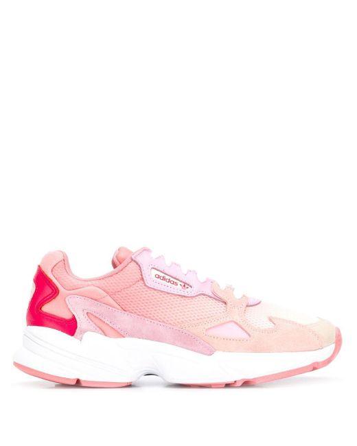 Adidas Falcon W メッシュ&レザースニーカー Pink