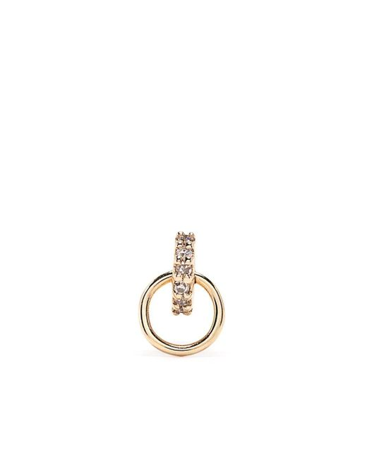 Maria Black Lila ダイヤモンド フープピアス 14kイエローゴールド Metallic