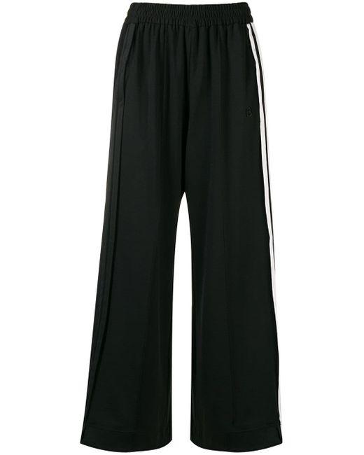 Y-3 Black Wide-leg Track Pants