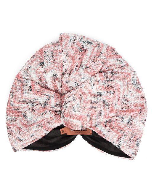Missoni Pink Abstract Knit Turban