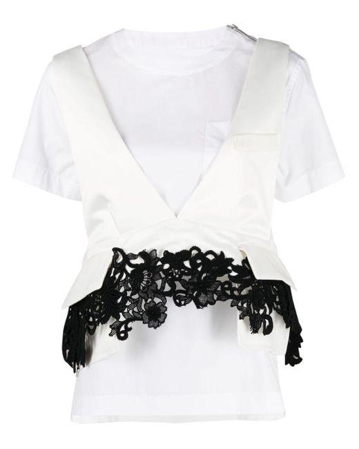 Sacai レイヤード Tシャツ White