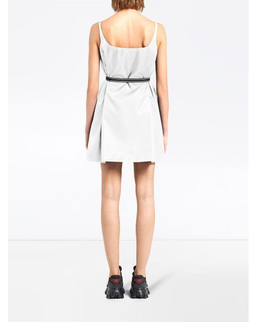 Prada ギャバジン ノースリーブ ドレス White