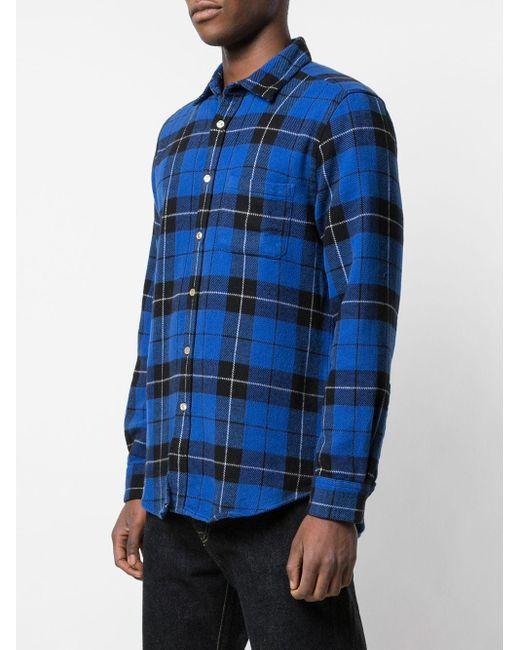 Camicia Colorado di Portuguese Flannel in Blue da Uomo
