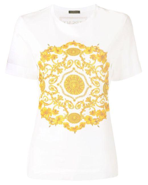Versace バロックプリント Tシャツ Multicolor
