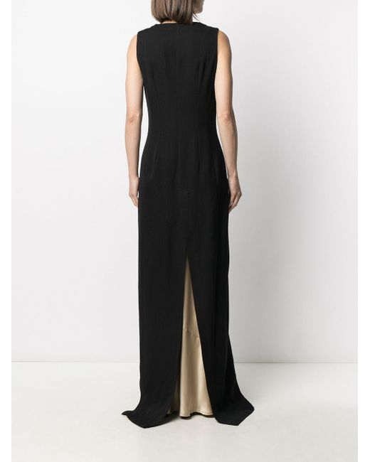 Платье С Глубоким V-образным Вырезом Ann Demeulemeester, цвет: Black