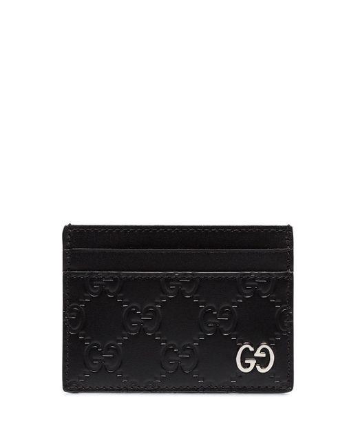 メンズ Gucci GG カードケース Black