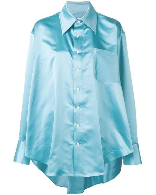 Matthew Adams Dolan オーバーサイズ シャツ Blue
