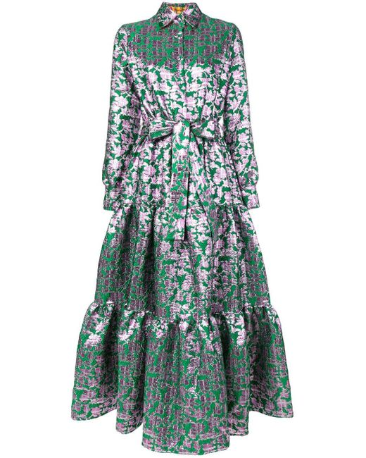 LaDoubleJ Bellini ジャガード ドレス Green