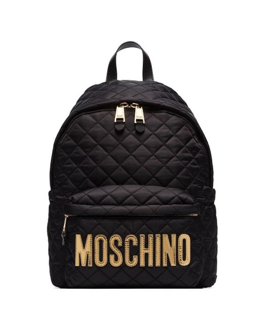 Moschino キルティング バックパック Black