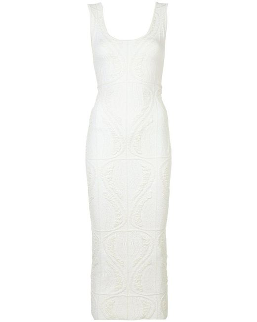 Sophie Theallet - White Fitted Knit Dress - Lyst