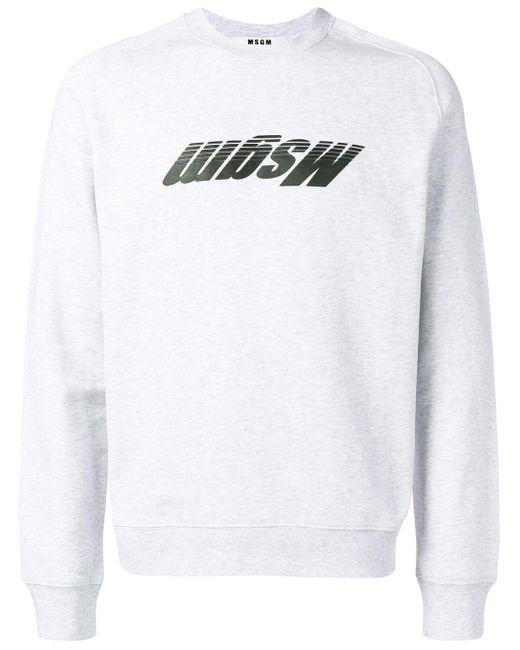 メンズ MSGM ロゴ スウェットシャツ Multicolor