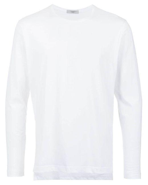 メンズ Egrey ベーシック ロングtシャツ White