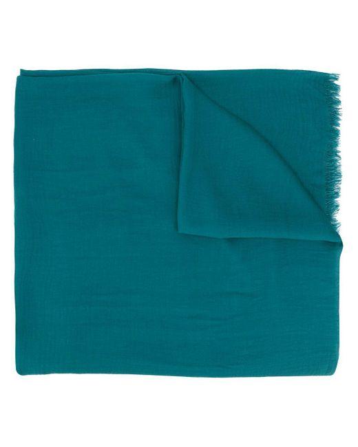 Faliero Sarti フレイド スカーフ Blue