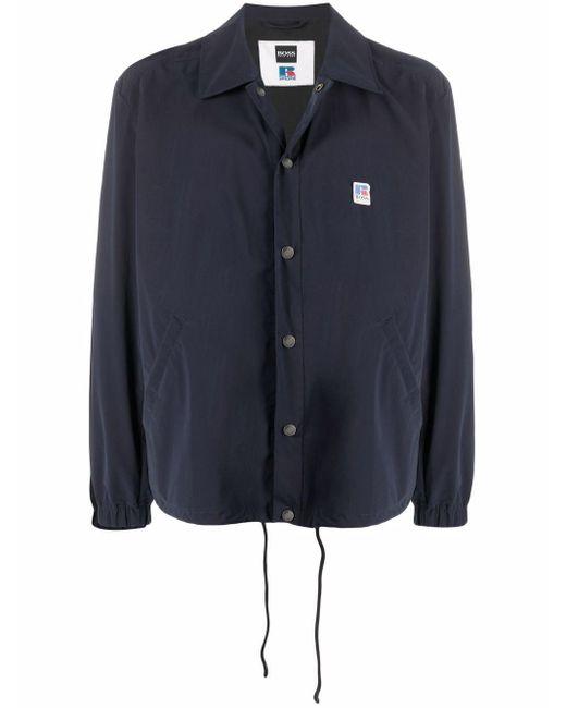 Легкая Куртка-рубашка С Нашивкой-логотипом BOSS by Hugo Boss для него, цвет: Blue