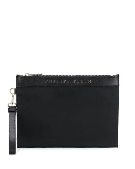 メンズ Philipp Plein プリント クラッチバッグ Black