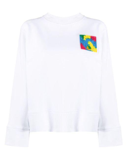 Толстовка С Нашивкой-логотипом Moschino, цвет: White