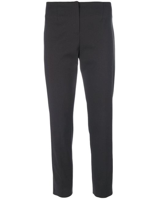 Les Copains   Gray Cropped Tailored Trousers   Lyst