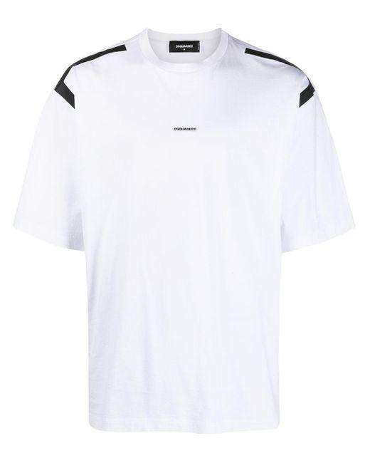 T-shirt con stampa di DSquared² in White da Uomo