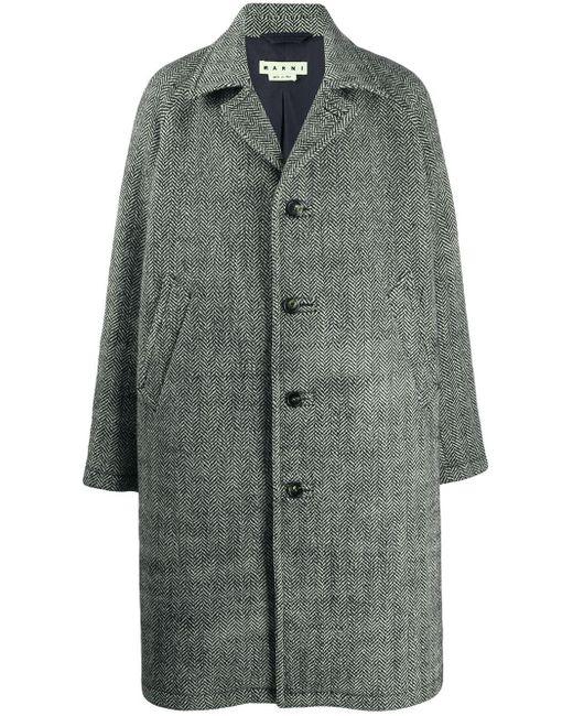 Marni Mantel mit Knopfverschluss in Black für Herren