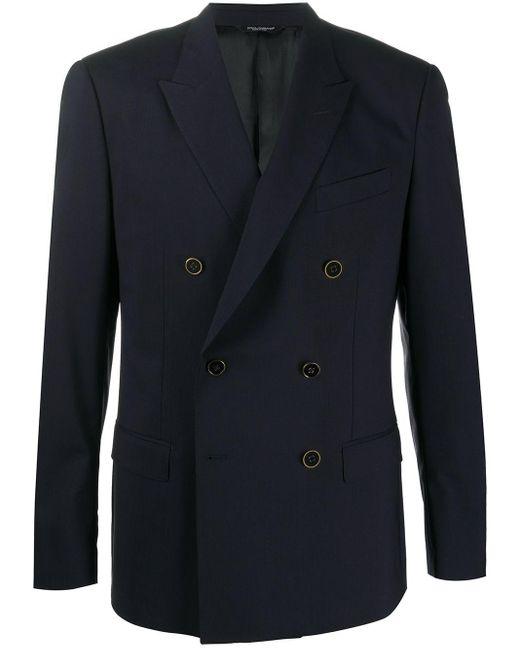 メンズ Dolce & Gabbana ダブルジャケット Blue