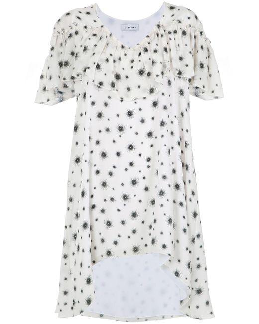 Short Ruffled Dress Olympiah, цвет: White