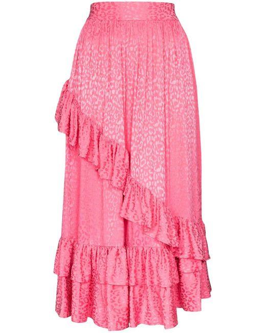 BATSHEVA ラッフル スカート Pink