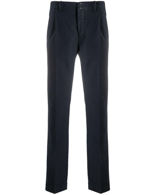 Incotex Blue Straight-fit Trousers for men